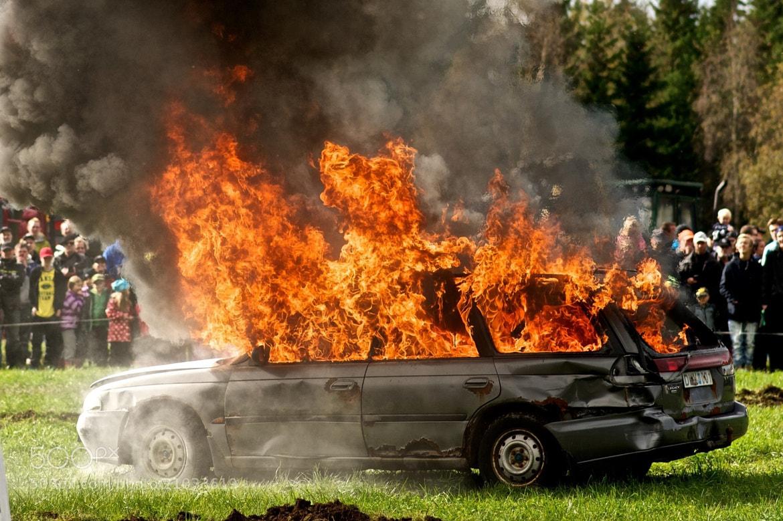 Photograph Burning Subaru by Steffen Nilsen on 500px