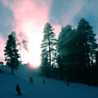 Sundown on the mountain.