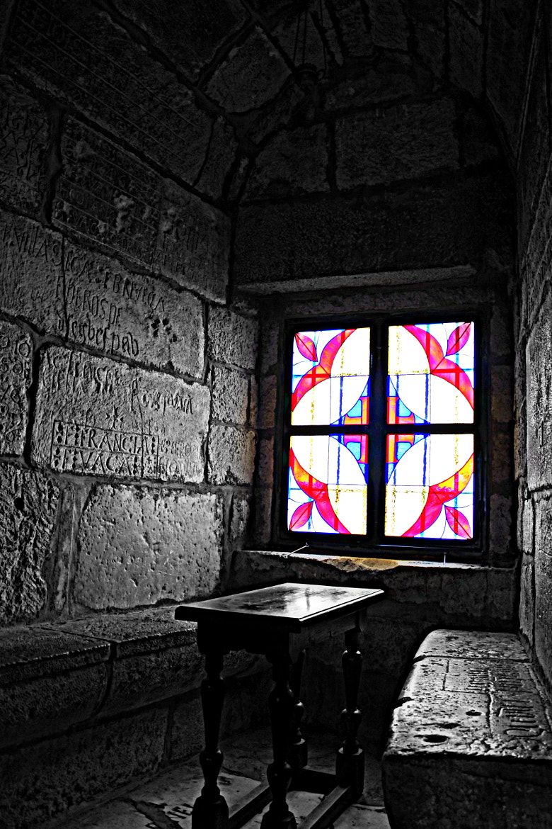 Photograph window of the English Tower by şaban özel on 500px
