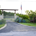 Beautiful entrance to a property in Spicewood, Texas.