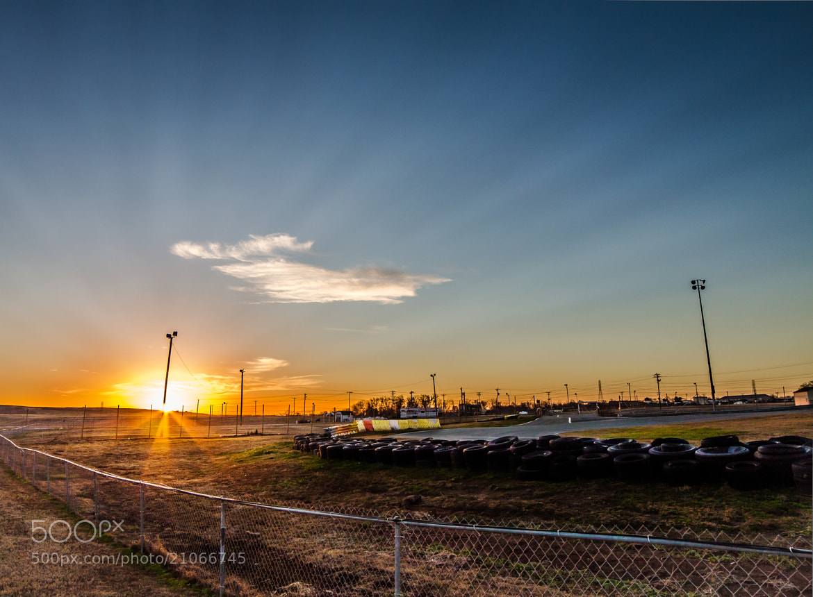 Photograph Sunrise Behind Charlotte Motor Speedway by David Swan on 500px