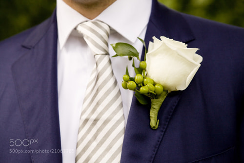 Photograph Groom's boutonniere by Josh Strauss on 500px