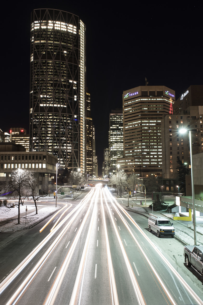 Photograph Downtown Calgary Light Trails by Navid S on 500px