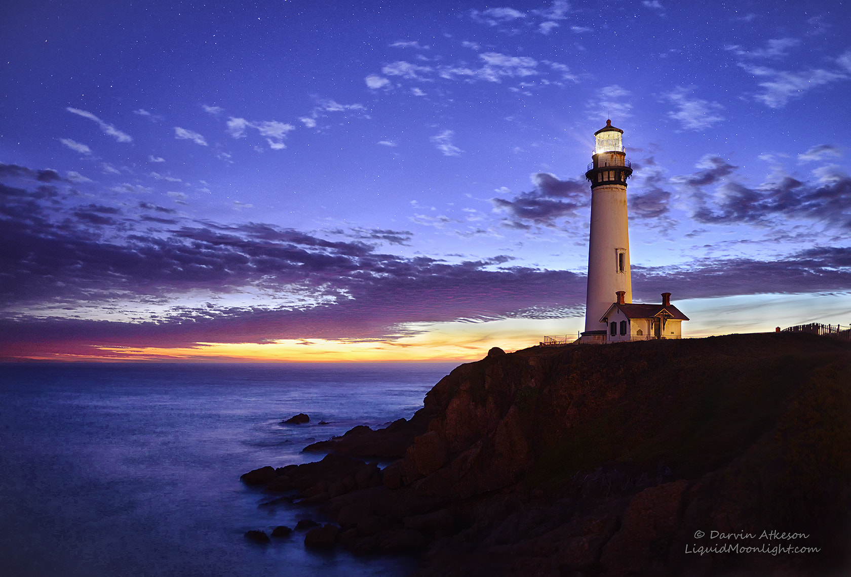 Photograph Stars at Pigeon Point Lighthouse by Darvin Atkeson on 500px