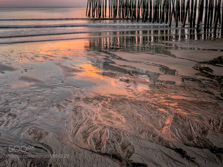 Taken at Old Orchard Beach, Maine at sunrise.