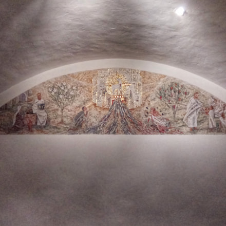 Into the Vault of the Baptistery from St-Maurice