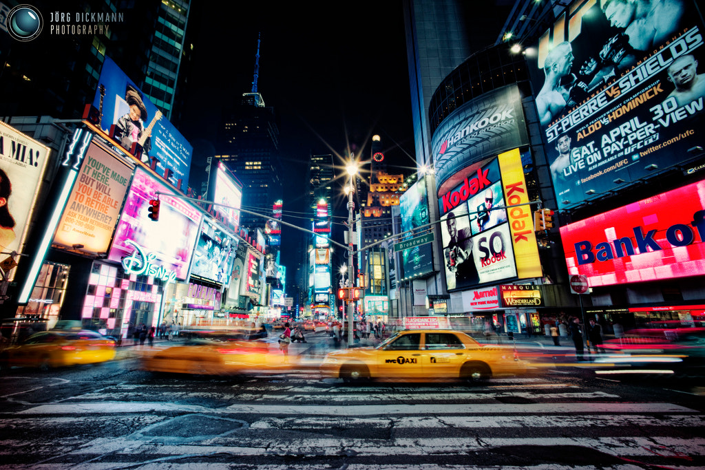 Photograph Times Square Taxi by Jörg Dickmann Photography on 500px