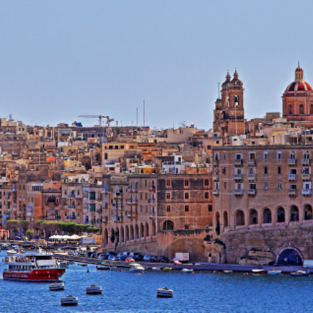 A part of one of the harbors of Valletta