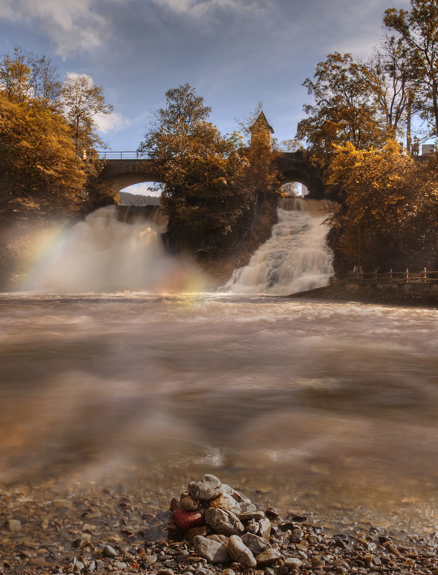 Photograph coo waterfall and the sun make a colorful picture by Patrick Strik on 500px