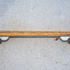 1970's Skateboard with clay wheels.