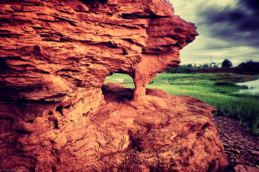 Photograph Hole in the red rock by Bernard Brunet on 500px