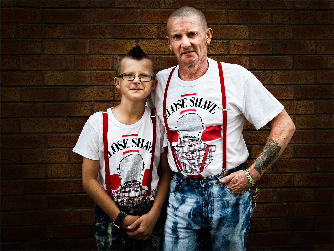Photograph Father and Son Skin Heads by Tony Smith on 500px