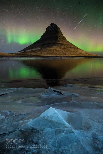 Photograph Aurora over Kirkjufell, Iceland II by David Clapperazzi on 500px
