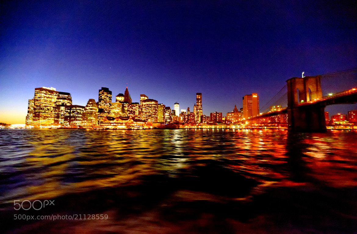Photograph View of Manhattan by night, near Brooklyn Heights Promenade by Michael FRANCHITTI on 500px