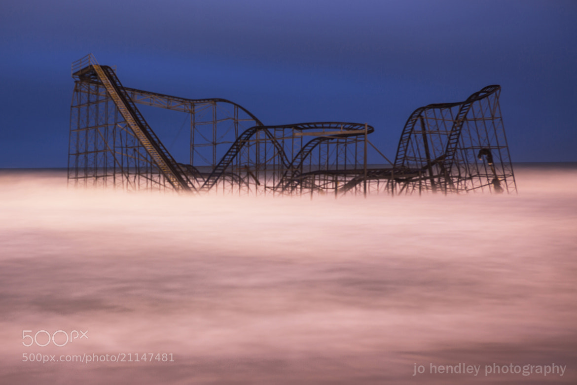 Photograph Jet Star Coaster At Night by Jo Hendley on 500px