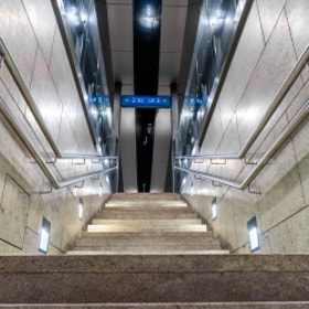 Photograph symetricStairs by Lukas Bachschwell