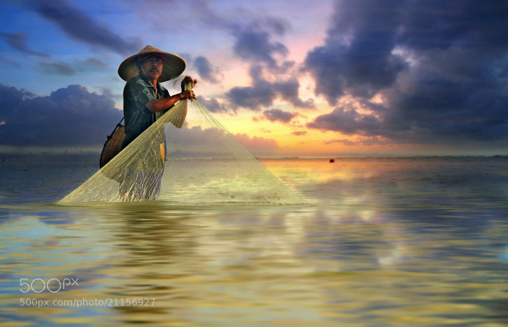 Photograph Morning Catch by Alit Apriyana on 500px