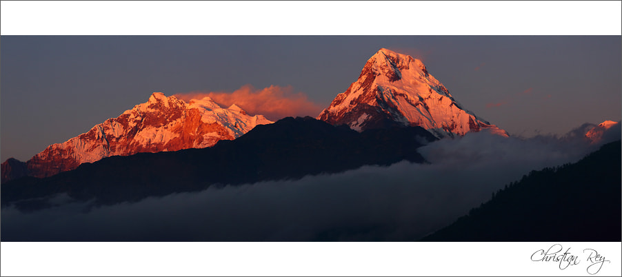 Photograph Sunset on Annapurna south by Christian Rey on 500px