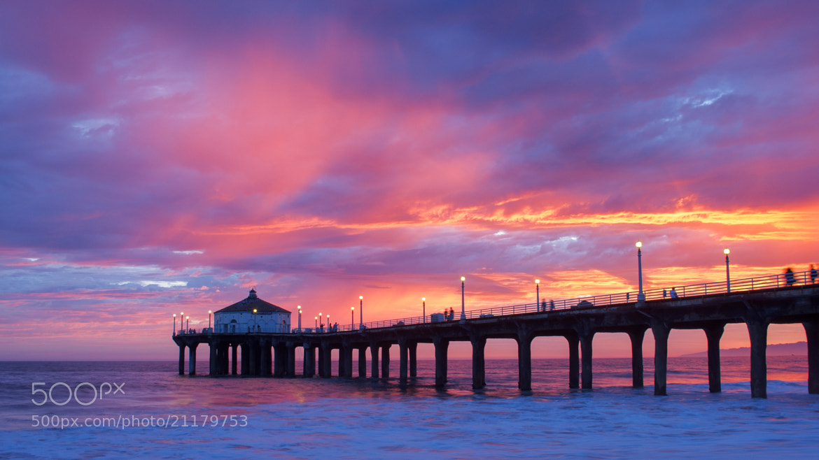 Photograph Manhattan Beach Sunset by Bill McBride on 500px