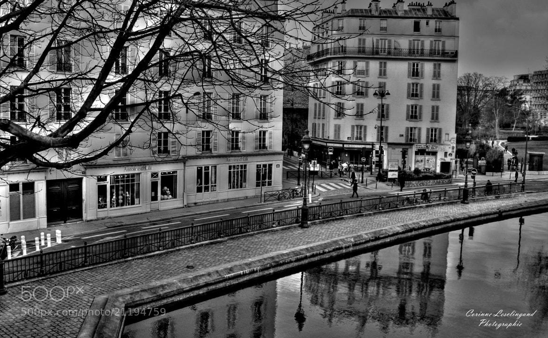 Photograph Le canal de l'Ourcq  by corinne Lesclingand on 500px