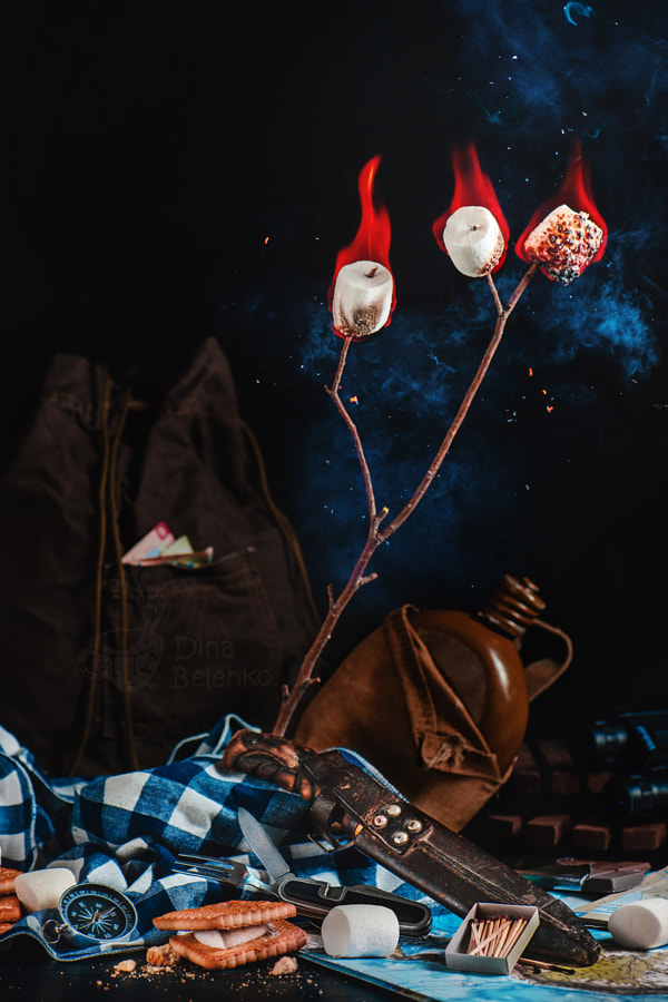 Camping still life with marshmallows by Dina Belenko on 500px.com