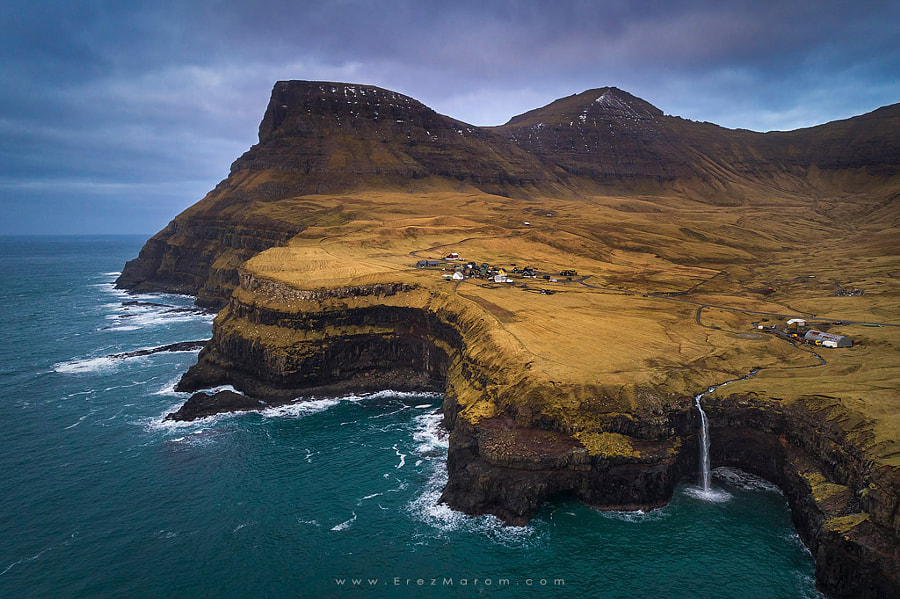 Gásadalur From Above by Erez Marom on 500px.com
