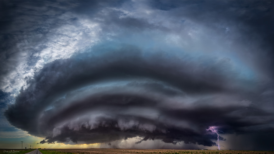 Amazing Supercell With Lightening by Derek Burdeny on 500px.com