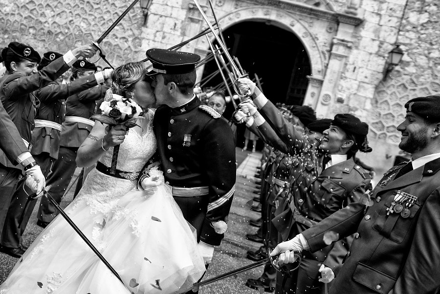 Kiss military wedding by Wayak Studio on 500px.com