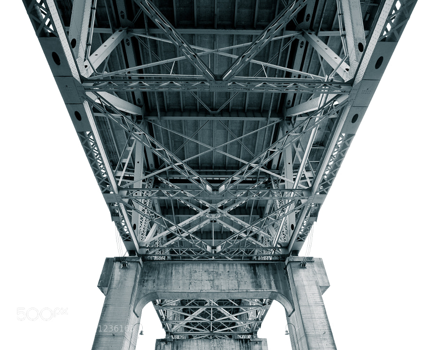 The under workings of the Granville St. bridge in Vancouver.  I love the detail and symmetry of something many would never notice.