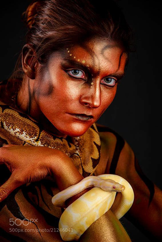 Photograph Snake Body Art by Lynn Schockmel on 500px