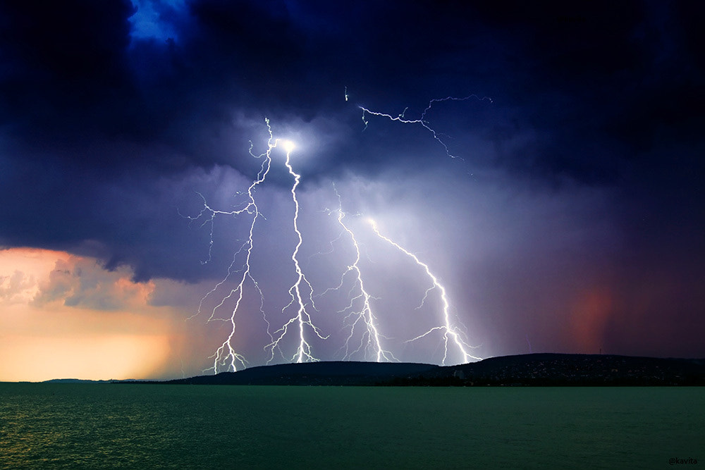 Photograph storm over the lake Balaton by F Levente on 500px