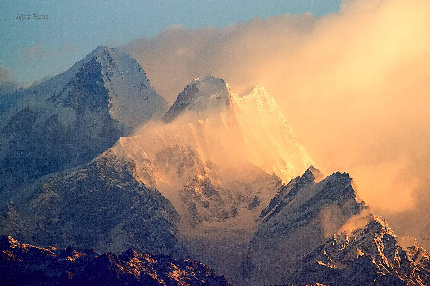 Photograph Sun rising over Himalaya, Nepal by Ajay Pant on 500px