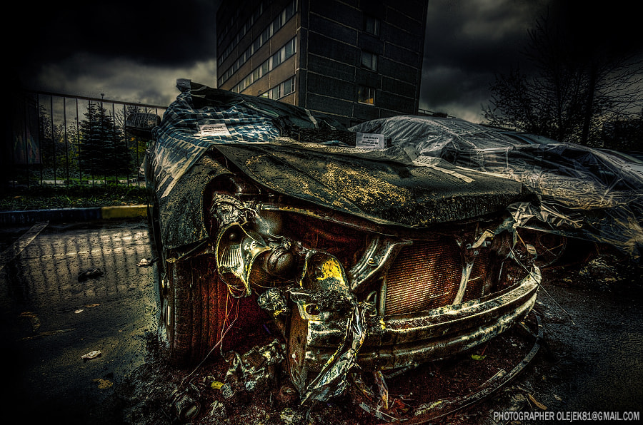 Photograph Burning car by Olejek  on 500px