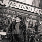 woman in fur coat, Venice