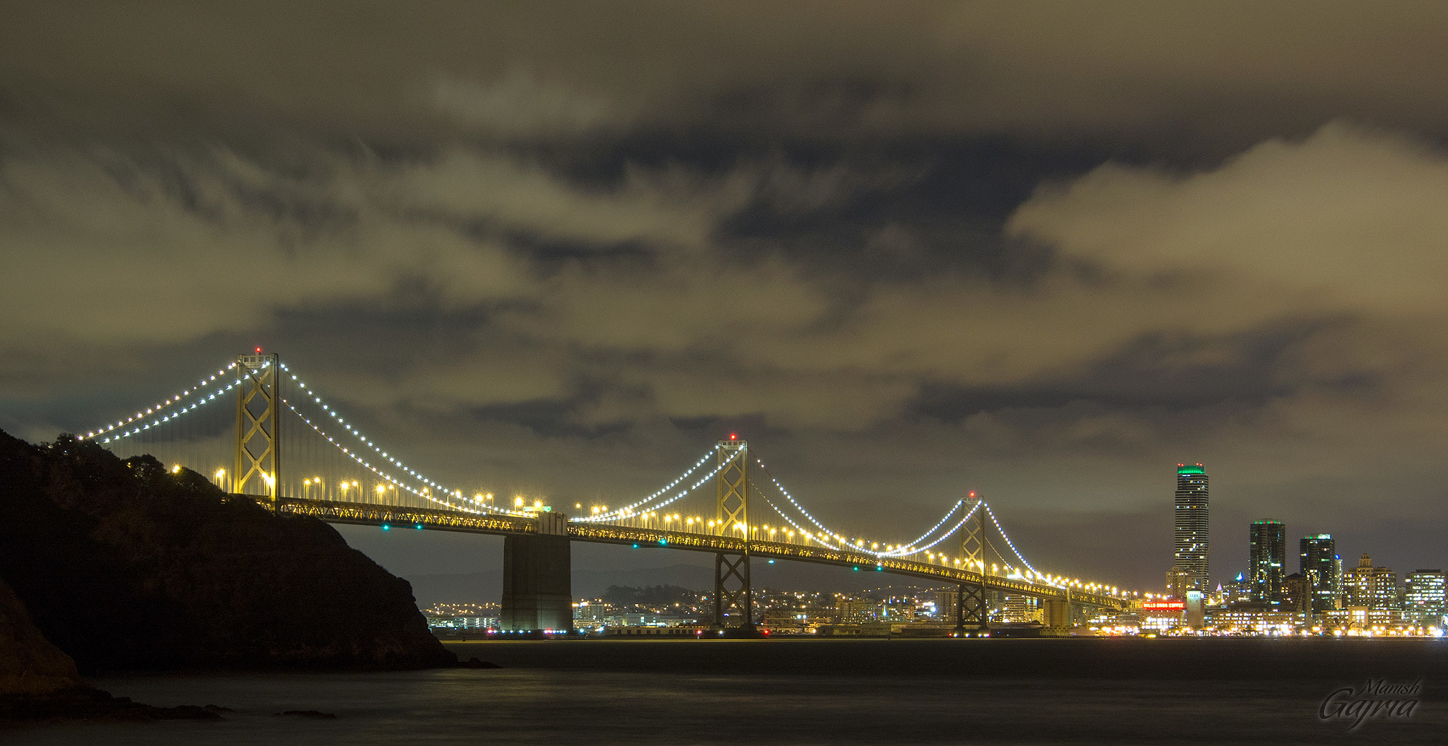 Photograph The Bay Bridge at Night by Manish Gajria on 500px