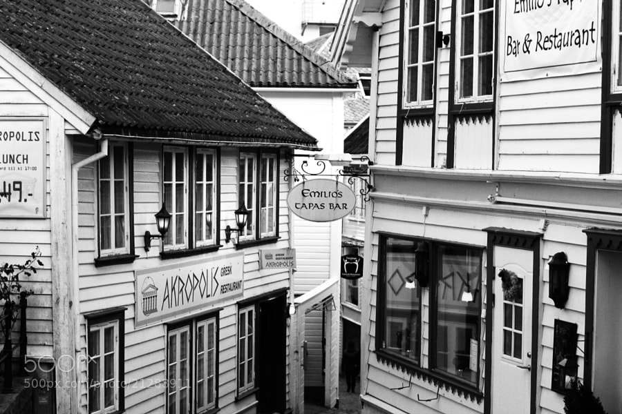Old buildings in Stavanger, Norway.