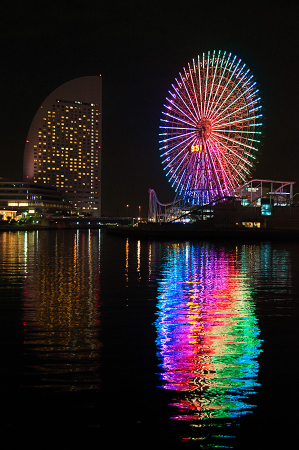 Photograph Minato Mirai at night by Richard Brown on 500px