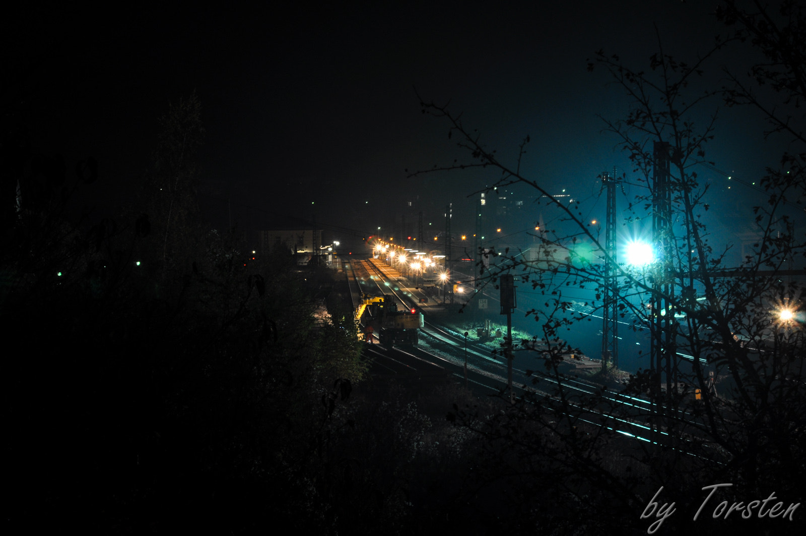 Photograph Station construction site by night by Torsten Trunz on 500px