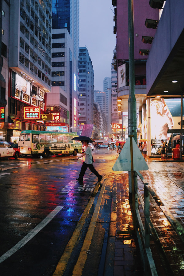 Streets in Rain by Andrew Curry on 500px.com
