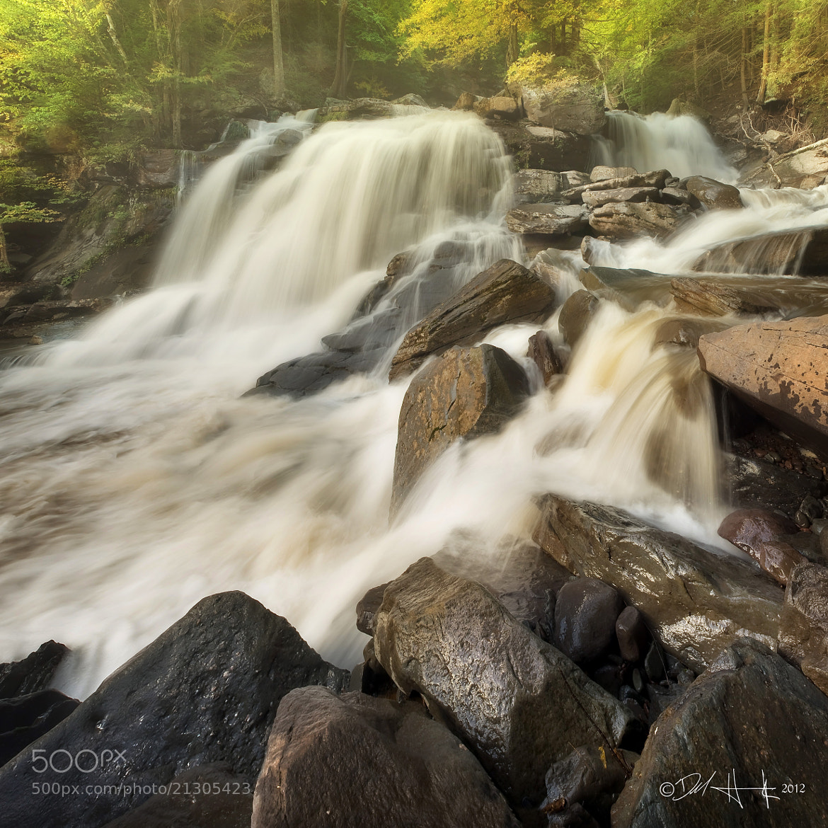 Photograph Bastian Falls Panorama by Del  Higgins on 500px