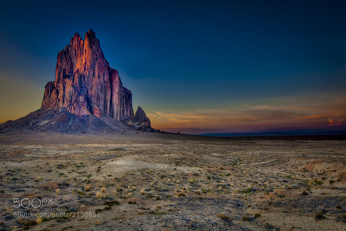 Photograph Sunset at Shiprock by Robert Arrington on 500px