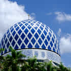 Dome of Blue Mosque Malaysia
