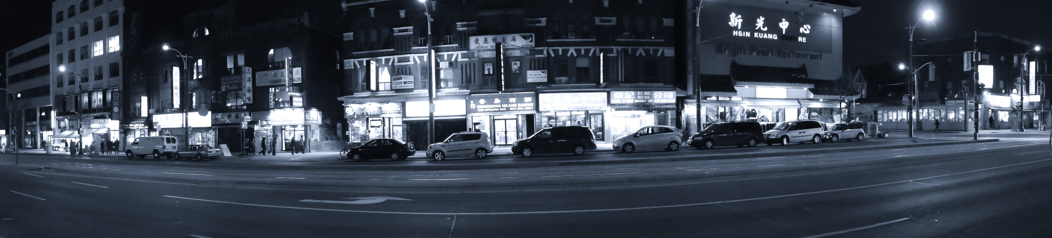 Photograph Spadina Avenue at Night by Pascal Lola on 500px