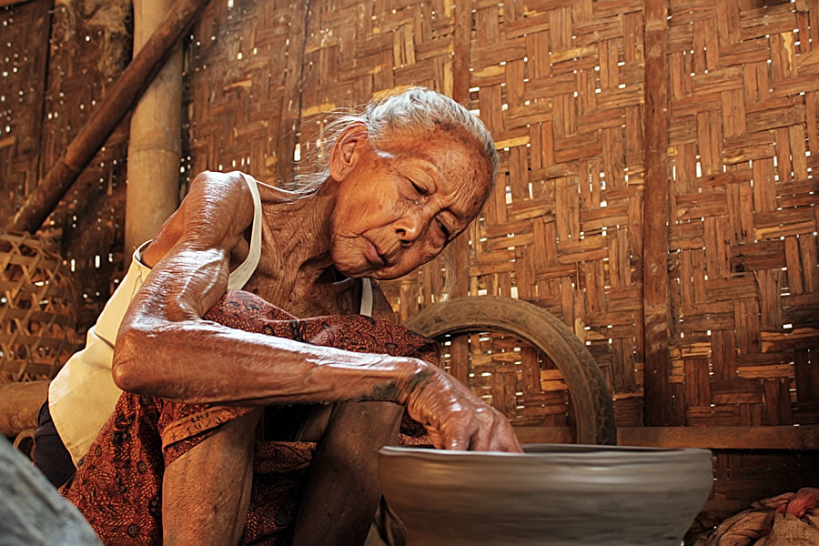 Photograph Old Worker (Potery Worker) by 3 Joko on 500px