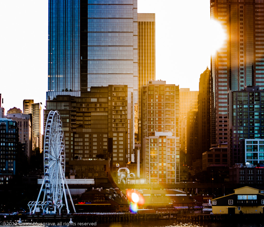 Photograph Seattle Ferris Wheel Sunrise 2 by Conor Musgrave on 500px