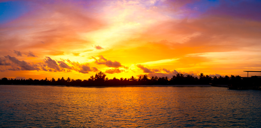 Photograph Tropical Sunset Panorama by Alyaksandr Stzhalkouski on 500px