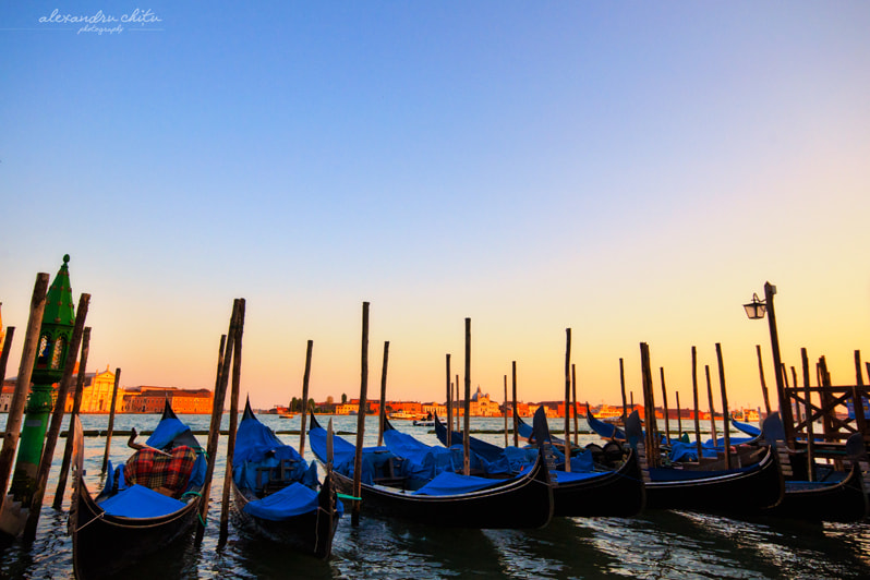 Photograph Gondolas in the evening by Alexandru Chițu on 500px