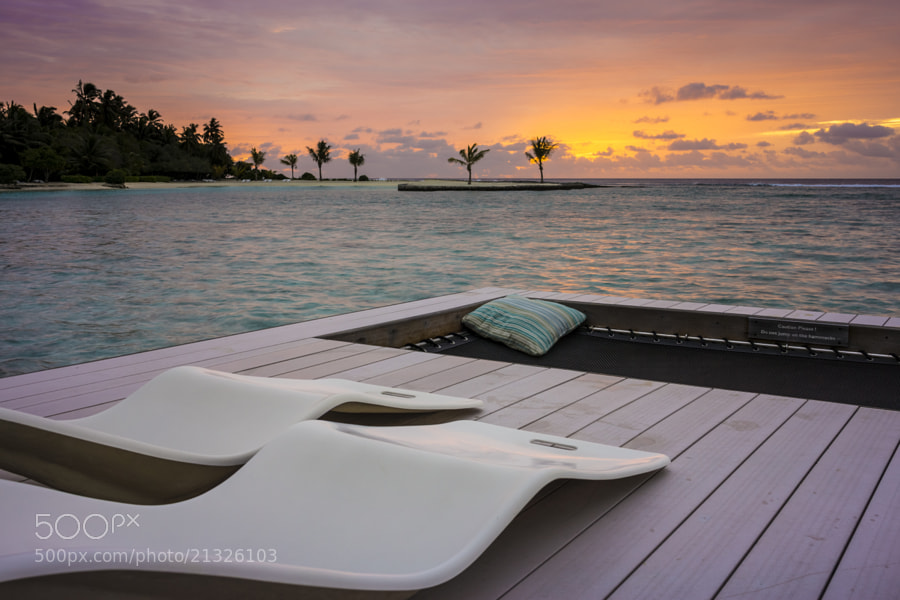 Sunrise at Kandooma Fushi, Maldives.