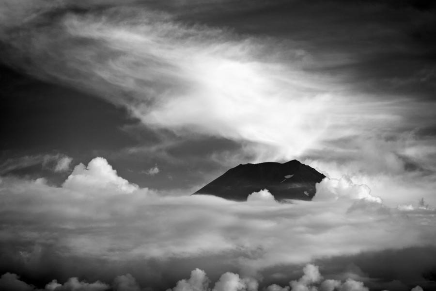 Photograph Japan Mt. Fuji Cloud Landscape Mountain Black and White by Josh Voyles on 500px