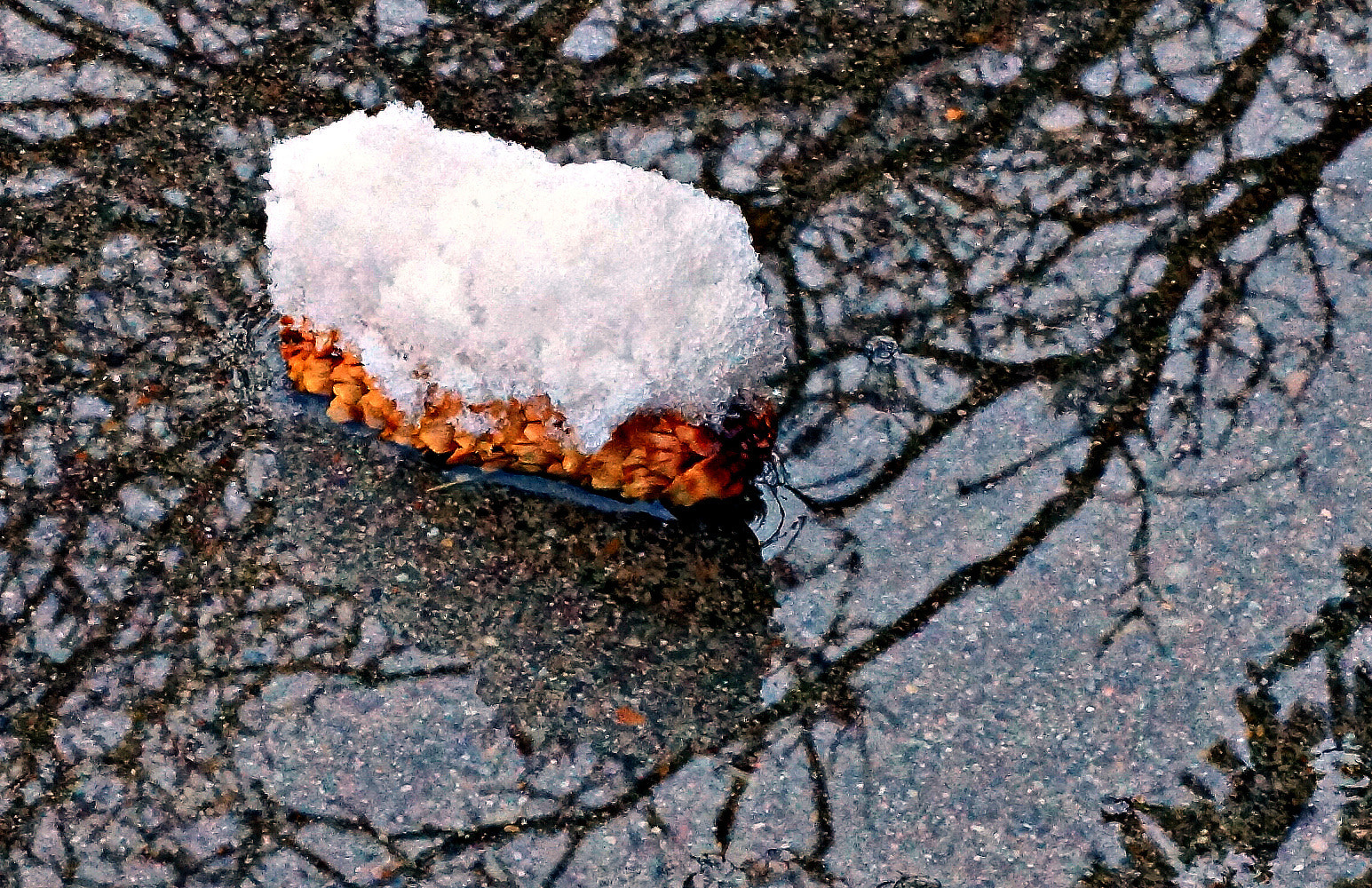 """Photograph Melting """"Snow"""" Cone in Ancestral Asphalt Reflections by Imageination on 500px"""